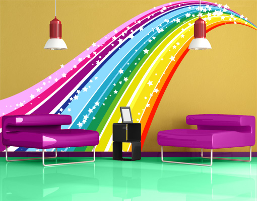 Wall Decal Rainbow Wall Sticker Colours Spectrum