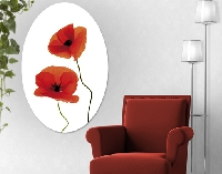 LeinwandBild Oval Charming Poppies