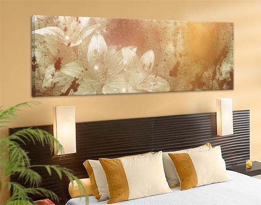 Leinwand bild bilder lilith 120x40 druck panorama lilien - Lienzos decorativos ...