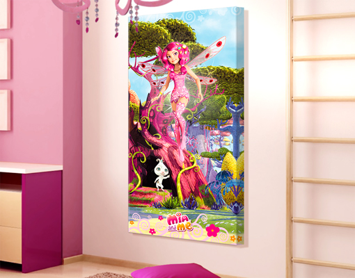 leinwand bild bilder mia and me mia und phuddle. Black Bedroom Furniture Sets. Home Design Ideas
