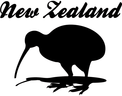 wandtattoo no js38 new zealand kiwi tiere vogel neuseeland. Black Bedroom Furniture Sets. Home Design Ideas