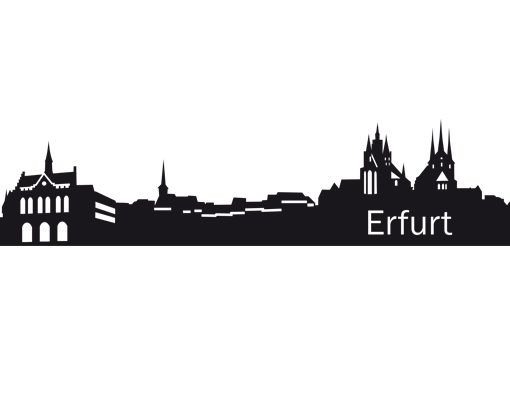 Wandtattoo no eg42 erfurt skyline ll silhouette - Wandtattoo erfurt ...