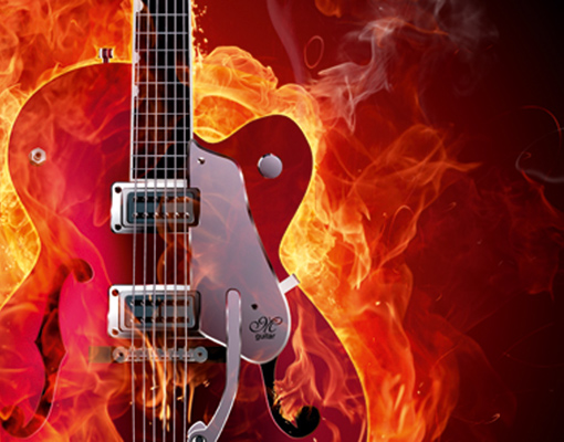 electric guitar art wallpaper fire - photo #20