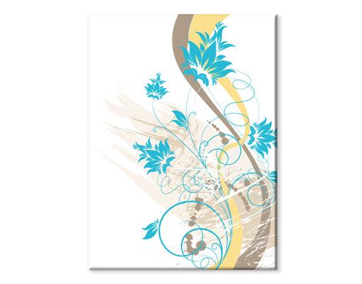 leinwandbild february pflanzen blumen bl ten schn rkel ranken bunt monat blau. Black Bedroom Furniture Sets. Home Design Ideas