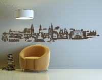 WandTattoo No.JR46 Krakau polnisch Skyline