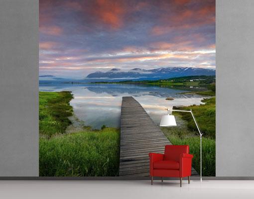 vlies fototapete norwegische idylle foto tapeten. Black Bedroom Furniture Sets. Home Design Ideas