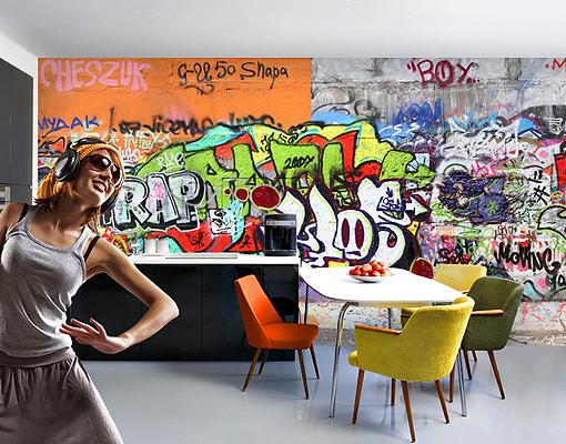Photo Wall Mural Graffiti Wallpaper Wall Art Wall Decor
