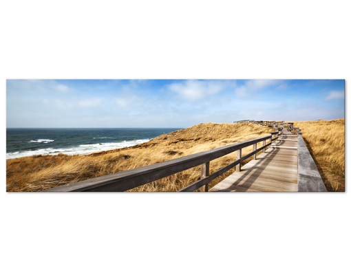 leinwand bild bilder nordseespaziergang 120x40 panorama strand sonne meer sand ebay. Black Bedroom Furniture Sets. Home Design Ideas
