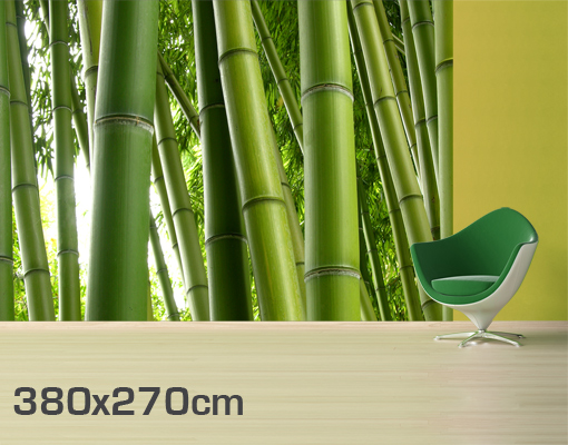 Fleece wall mural bamboo tree no 2 wallpaper wall art wall for Bamboo mural wallpaper