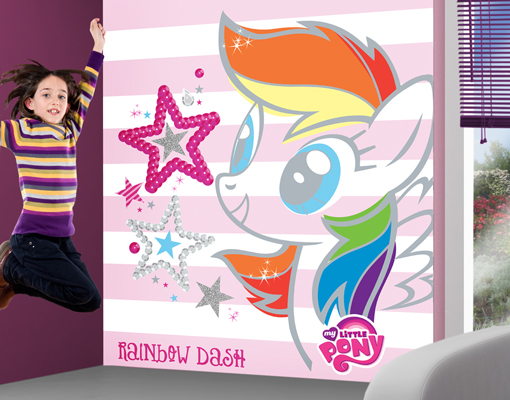 photo wall mural my little pony colorful rainbow dash pics photos walltastic walltastic my little pony wall