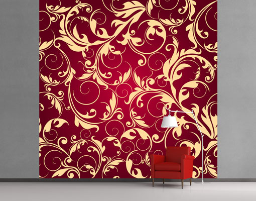 vlies fototapete tapete the 12 muses kleio rot alt schn rkel ranken gold ebay. Black Bedroom Furniture Sets. Home Design Ideas
