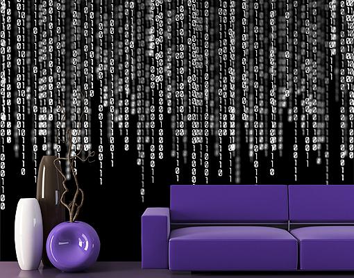 Fleece wall mural binary code ii wallpaper wall art wall decor matrix software ebay - Nerd wallpaper for walls ...
